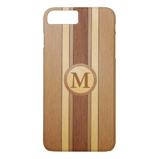 Monogrammed Faux wood iphone 7 plus iPhone 7 Plus Case
