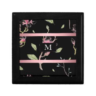 Monogrammed Floral Design Gift Box