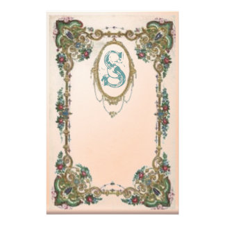 Monogrammed frame personalized stationery