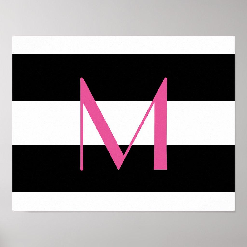 Monogrammed Poster