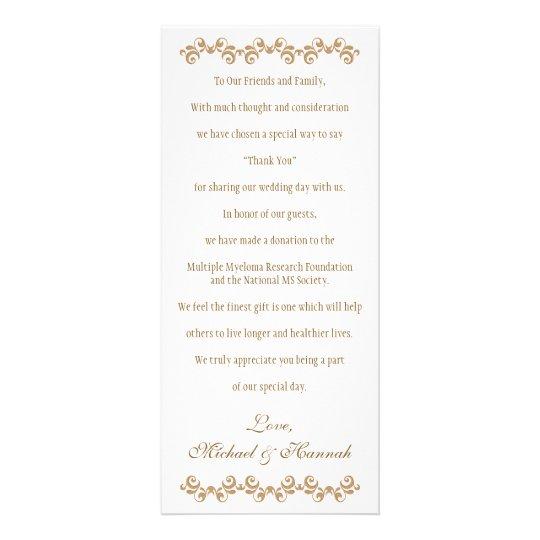 Monogrammed Fuchsia Gold Moroccan Wedding Charity Rack Cards