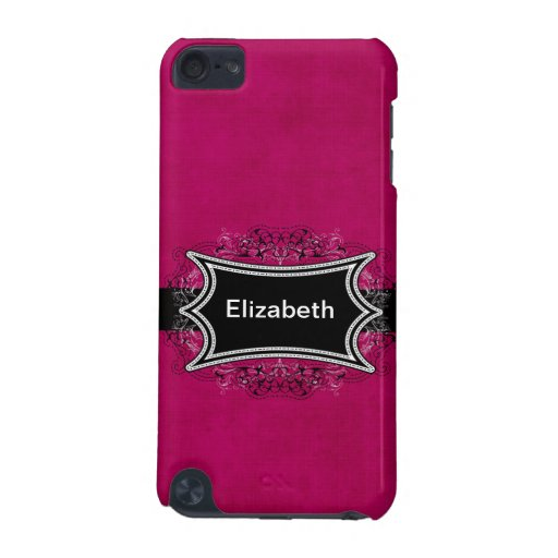 Monogrammed Fuchsia IPod Touch Case