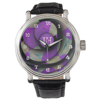 Monogrammed Geometric Abstract watch