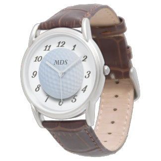 Monogrammed Golf Ball Watch for Golfers