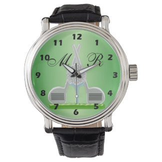 Monogrammed Golf Watch