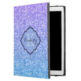 "Monogrammed Gradient Glitter iPad Pro 12.9"" Case"