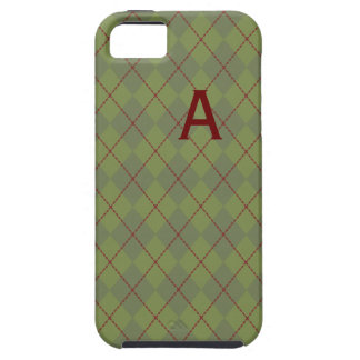 Monogrammed Green Argyle iPhone 5 Case