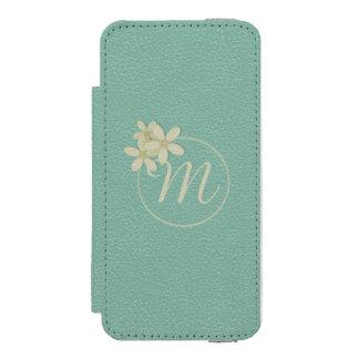 Monogrammed Green Leather Effect iPhone 5 Wallet Incipio Watson™ iPhone 5 Wallet Case