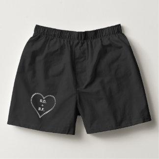 Monogrammed Heart Boxers
