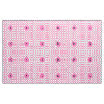 Monogrammed Hot Pink Quatrefoil Pattern Fabric
