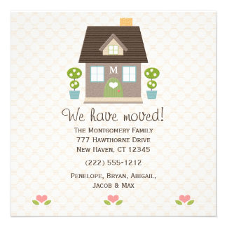 Monogrammed House New Address Announcement