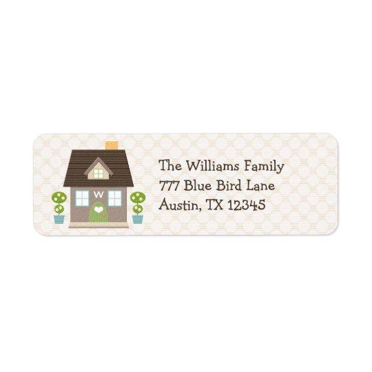 Monogrammed House Return Address Labels