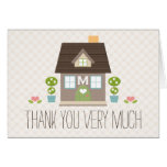 Monogrammed House Warming Thank You Card
