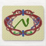 Monogrammed Initials Celtic Design Mousepad