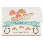 MONOGRAMMED KENTUCKY DERBY THEMED THANK YOU NOTE CARD