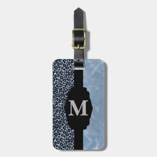 Monogrammed Leopard Animal Print Tags For Bags