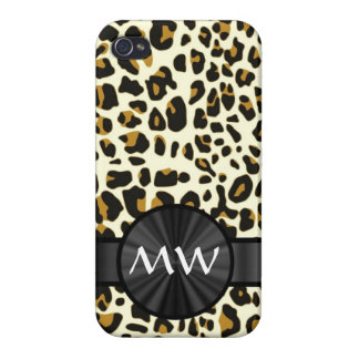 Monogrammed leopard print case for the iPhone 4