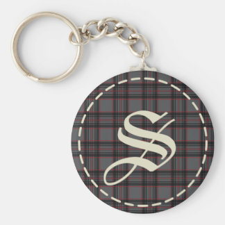 Monogrammed Letter S  Keychain