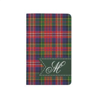 Monogrammed MacPherson Plaid Pocket Journal