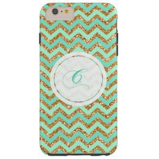 Monogrammed Mint Chevron iPhone 6/6s Plus Case C