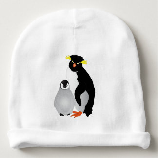 Monogrammed Mommy & Baby Penguin Baby Beanie