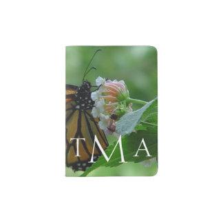 Monogrammed Monarch Butterfly Passport Holder