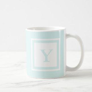 Monogrammed Mug - Blue & White