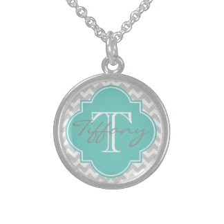 Monogrammed Sterling Silver Necklaces