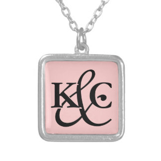 Monogrammed necklace with initial letters