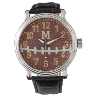 MONOGRAMMED or Jersey NUMBER Football Watches