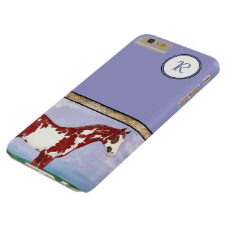 Monogrammed Overo Paint Horse Barely There iPhone 6 Plus Case