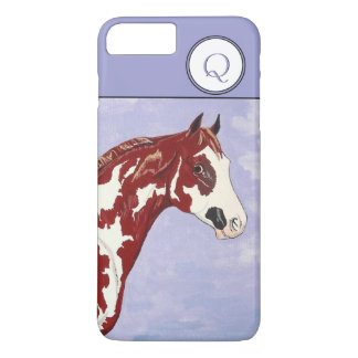 Monogrammed Overo Paint Horse Head iPhone 7 Plus Case