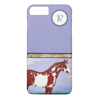 Monogrammed Overo Paint Horse iPhone 7 Plus Case