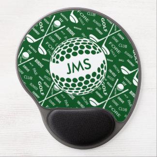 Monogrammed Pattern for the Golfer Gel Mouse Mat