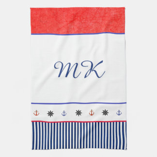 Monogrammed Personalized Beach House Hand Towel