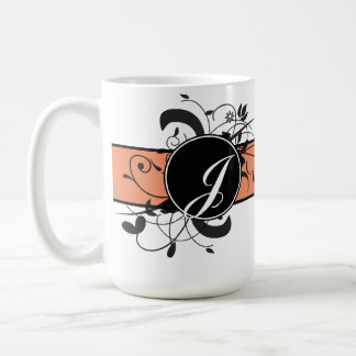 Monogrammed Personalized Fancy Flourish Coffee Mug