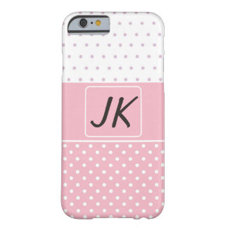 Monogrammed Pink and White Girlie Phone Case