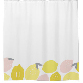 Monogrammed | Pink Lemonade Shower Curtain