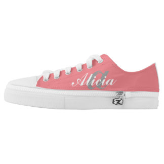 Monogrammed Pink Tennis Shoes