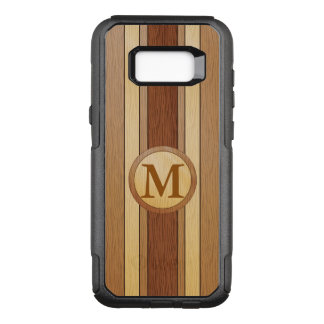 Monogrammed PRINTED faux wood OtterBox Commuter Samsung Galaxy S8+ Case