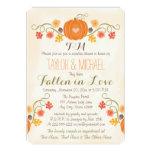 Monogrammed Pumpkin Fall Couples Wedding Shower 13 Cm X 18 Cm Invitation Card