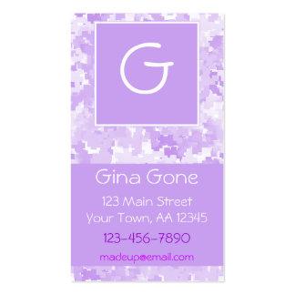 Monogrammed Purple Digi Pack Of Standard Business Cards