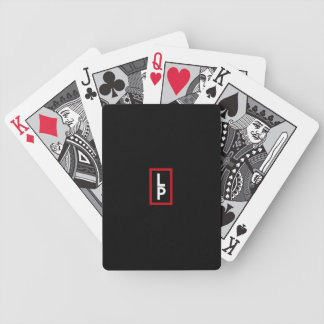 Monogrammed ~ Red Black and White Bicycle Playing Cards