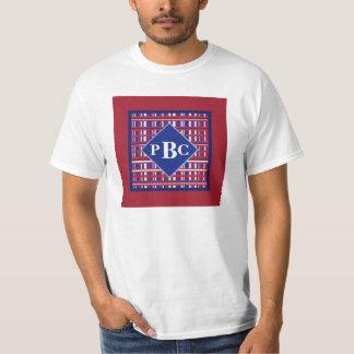 Monogrammed Red White Blue Plaid Patriot Shirt