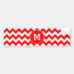 Monogrammed Red Zigzag Pattern