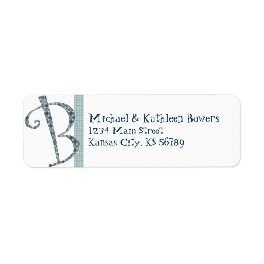 Monogrammed Return Address Label