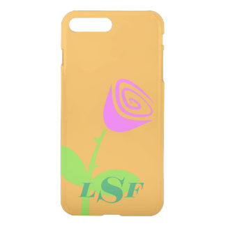 Monogrammed Rose Bud iPhone 7 Plus Case