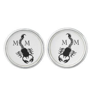 Monogrammed Scorpion Cufflinks