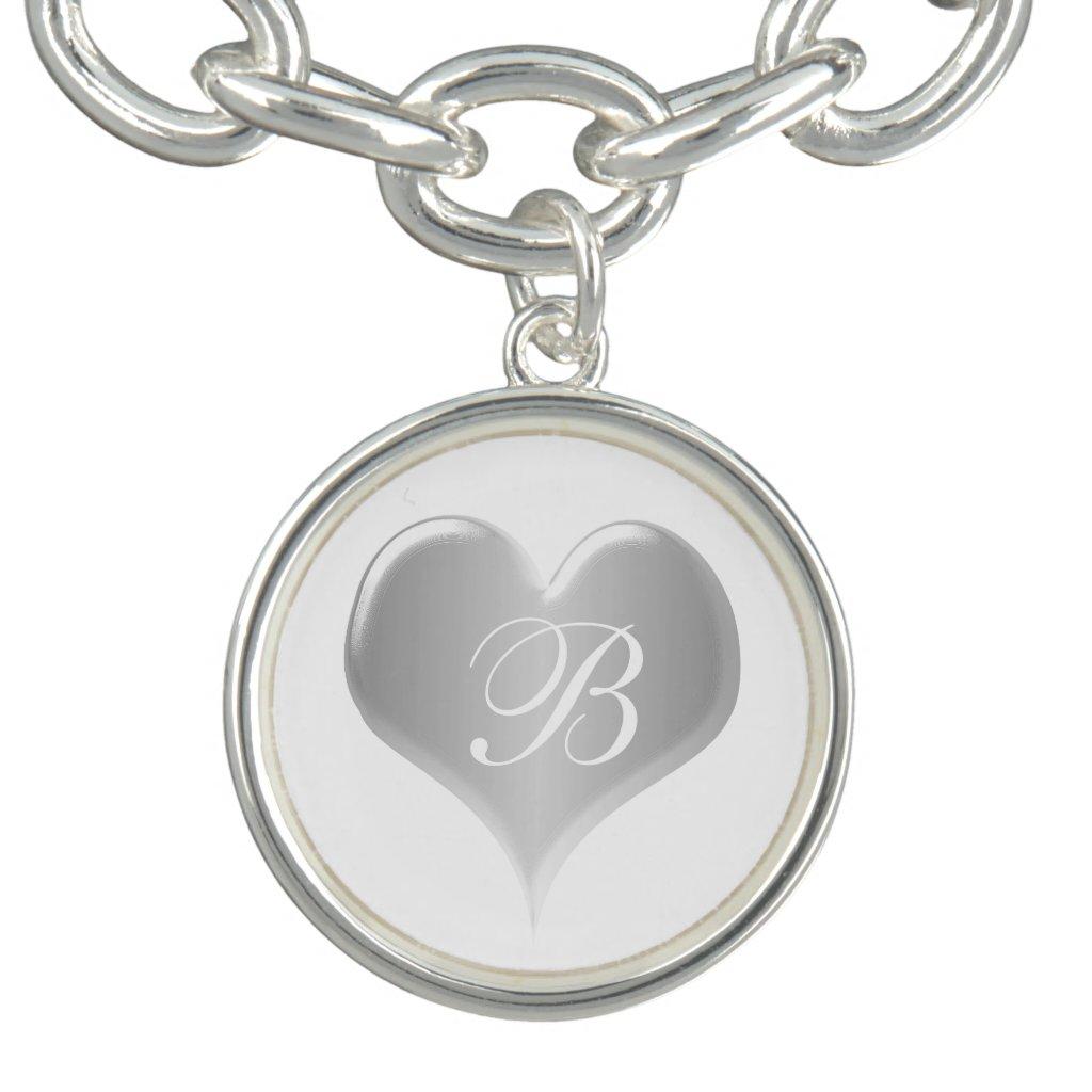 Monogrammed Silver Heart
