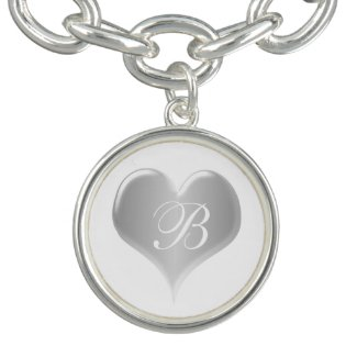Monogrammed Silver Heart